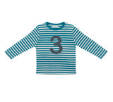 Peacock & Dove Grey Number 3 T Shirt