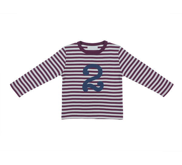 Plum & Dove Grey Number 2 T Shirt