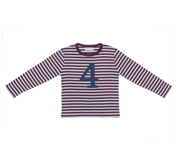 Plum & Dove Grey Number 4 T Shirt