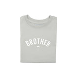 Pale Grey Short-Sleeved 'BROTHER' T-shirt