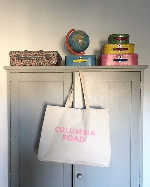Columbia Road Large Canvas Bag - Pink