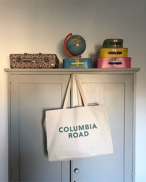 Columbia Road Large Canvas Bag - Green