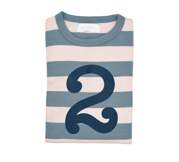 Slate & Stone Striped Number 2 T Shirt