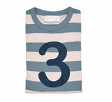 Slate & Stone Striped Number 3 T Shirt