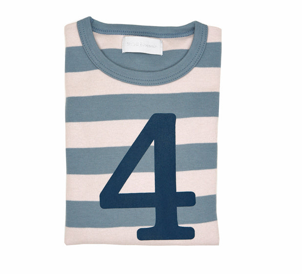 Slate & Stone Striped Number 4 T Shirt