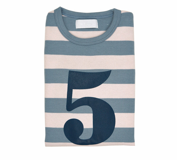 Slate & Stone Striped Number 5 T Shirt