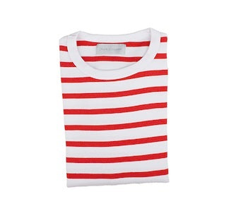 Red & White Breton Striped T Shirt