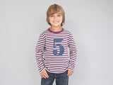 Plum & Dove Grey Number 5 T Shirt