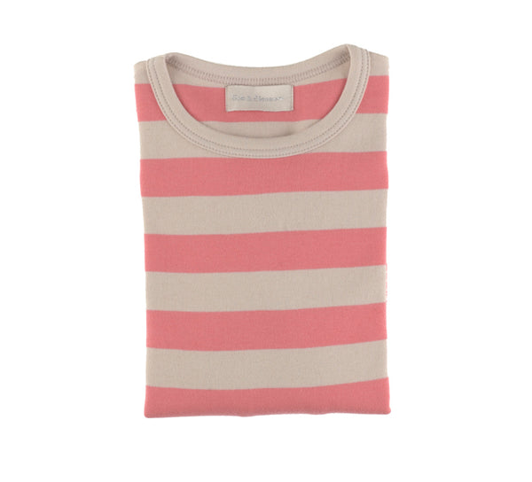 Posy Pink & Sand Striped T Shirt