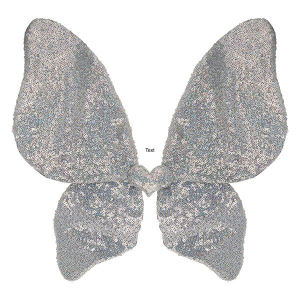 Sparkle Sequin Wings - Silver