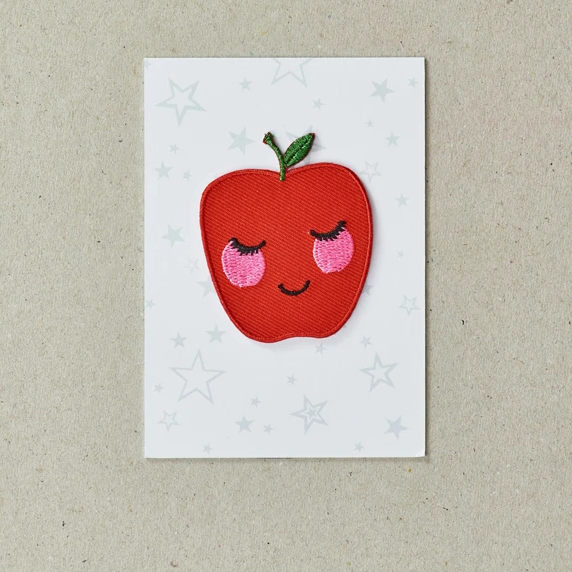 Rosy Apple Iron on Patch