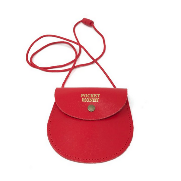 Red Pocket Money Purse