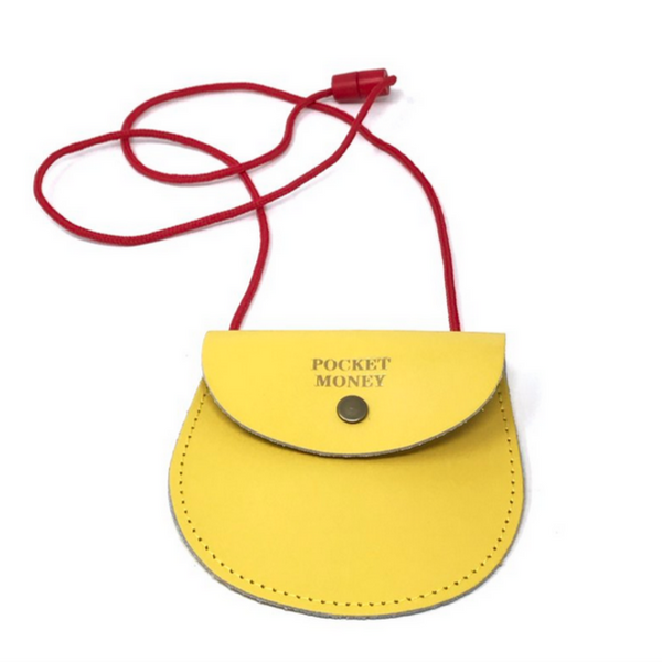 Yellow Pocket Money Purse