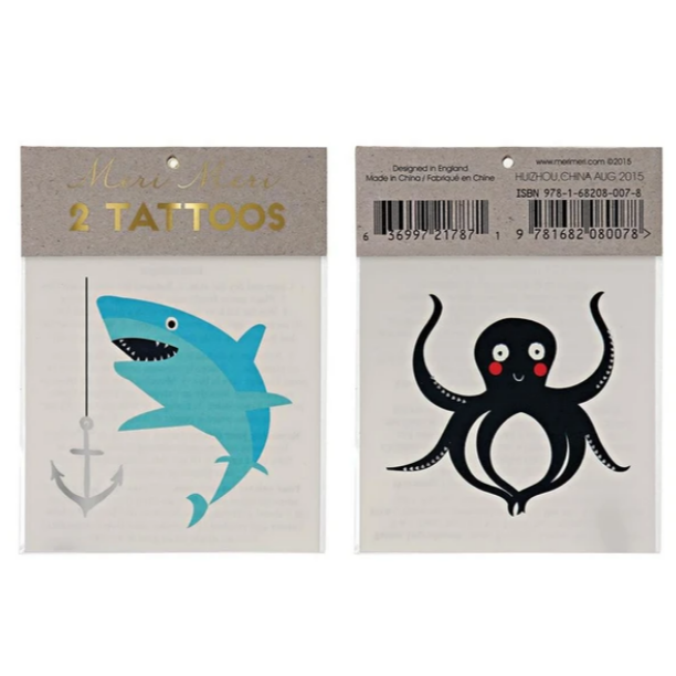 Sea Creatures Tattoos
