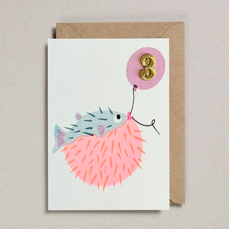 Pufferfish Age 3 Card