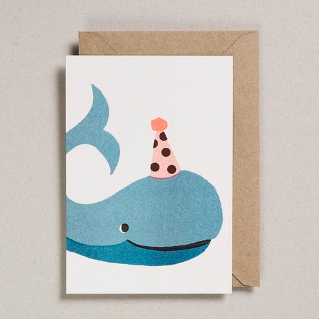 Japanese Paper Whale Balloon Card