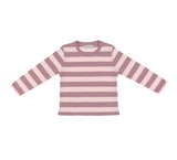 Vintage Pink & Powder Pink Striped T Shirt