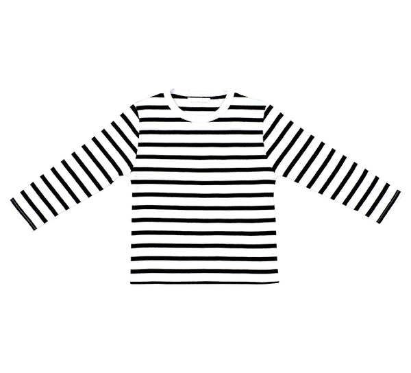 White & Black Breton Striped T Shirt