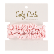 Only curls 100% silk scrunchies small - pink or black