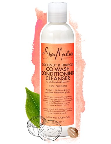 Sheamoisture Coconut & Hibiscus Cowash Conditioning Cleanser  (8oz.)