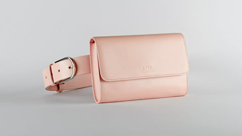 Multi-Wear Leather Belt Bag - Classic Blush Pink