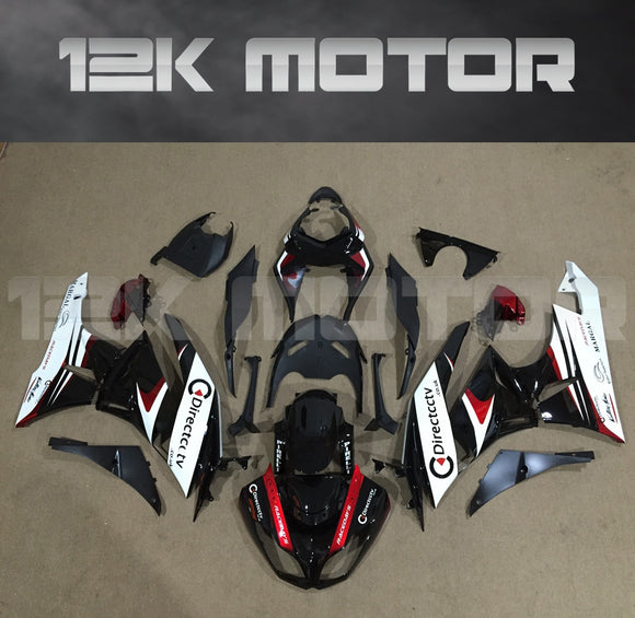 ZX6R Fairing Kit for Kawasaki ZX6R Fairings 2009 to 2012 Black White Fairing set