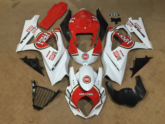 ---AU STOCKING---Fit Suzuki GSXR GSX-R 1000 2007 2008 Lucky Strick Fairing Kit