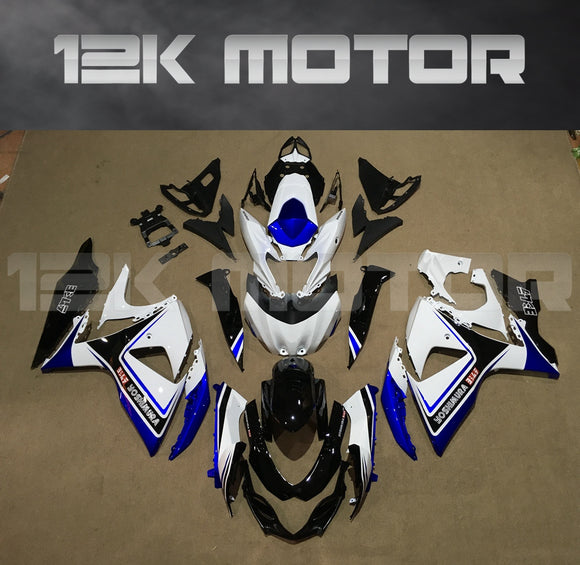 Black White Fairing fit for SUZUKI GSXR 1000 2009-2017 Aftermarket Fairing Kit