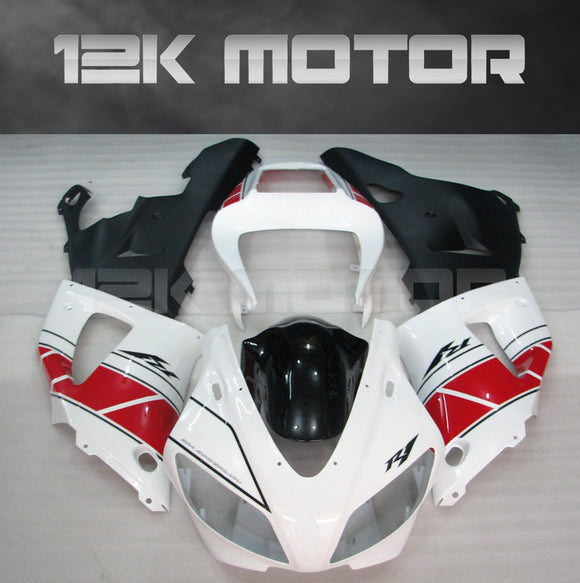 White Red Fairing For Yamaha R1 1998 1999 Aftermarket Fairing Kit