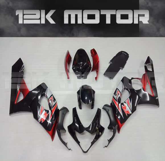 Black and Red Fairing Fit for SUZUKI GSXR 1000 2005 2006 Aftermarket Fairing Kit