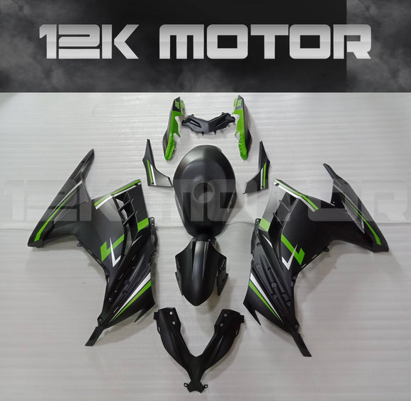 Matt Black and Green Ninja300 Fairing Kit For Kawasaki Ninja 300 Fairing