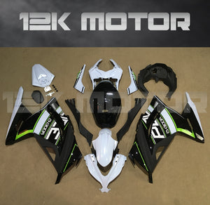Ninja 300 2013 - 2017 Black White Trim Fairing Kits