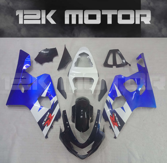 Black and White Fairing  Fit For SUZUKI GSXR 600/750 2004 2005 Aftermarket Fairing Kit
