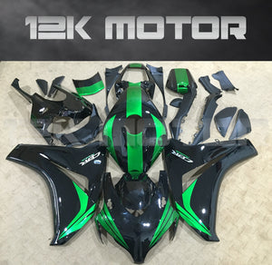 HONDA CBR1000RR 2008 2008 2010 2011 Black and Green Fairing Kit