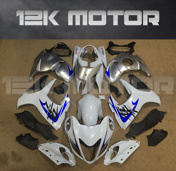 SUZUKI Hayabusa GSX1300R 2008-2018 White with Blue Decal Fairing