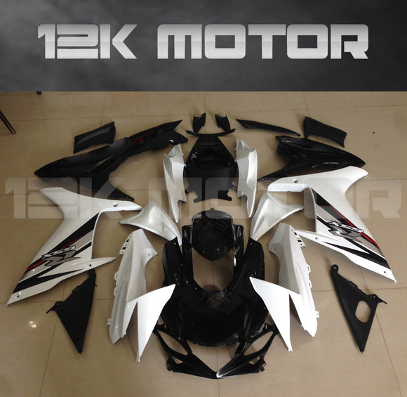 Black White Color Fairing fit for SUZUKI GSXR 600/750 2011-2017 Aftermarket Fairing Kit
