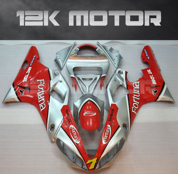 Red Silver Fairing For Yamaha R1 2000 2001 Aftermarket Fairing Kit