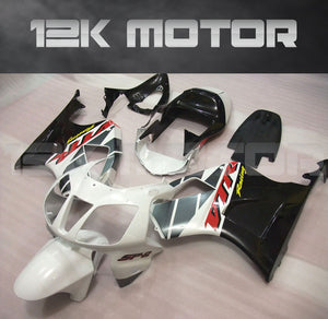 Silver and Black Fairing kit Fit HONDA RVT1000 RC51 SP1 SP 2 2000 - 2006 Aftermarket Fairing