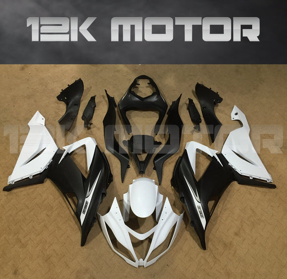 Aftermarket Kawasaki ZX-6R Fairings 2013 2014 2015 2016 2017 2018 Black White Fairing Kit