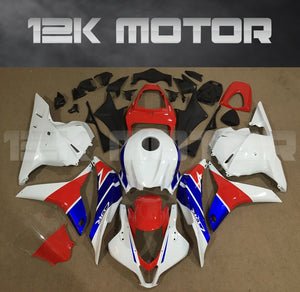 White Red and Blue Fairing fit for HONDA CBR600RR 2009 2010 2011 2012 Aftermarket Fairing Kit