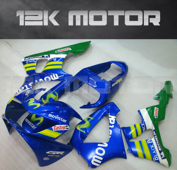 Blue Fairing fit for HONDA CBR929RR 2000 2001 Aftermarket Fairing Kit