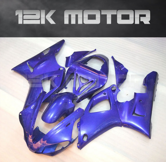Plain Blue FairingFor Yamaha R1 2000 2001 Aftermarket Fairing Kit