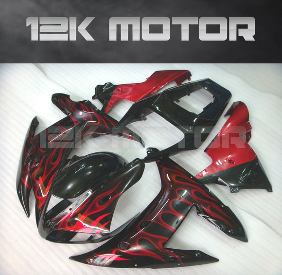 Red Flame Fairing For Yamaha R1 2002 2003 Aftermarket Fairing Kit