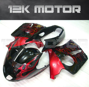 Black Red Fairing Kits fit HONDA CBR1100XX Blackbird 1996 - 2007