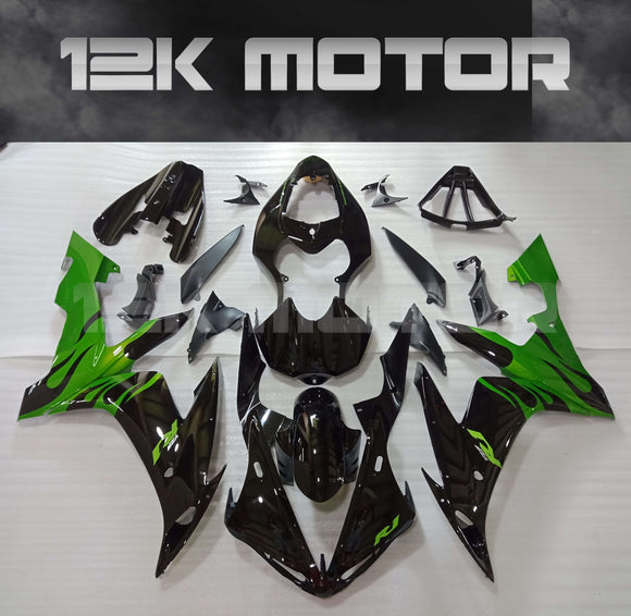 Black Green Fairing For Yamaha R1 2004 2005 2006 Aftermarket Fairing Kit