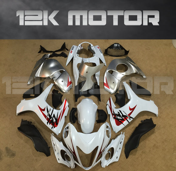 SUZUKI Hayabusa GSX1300R 2008-2018 White and Silver Fairing