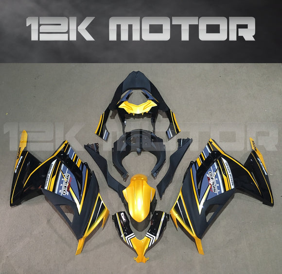 Gold Black Fairing Kit For Kawasaki Ninja 300R Fairings 2013 2014 2015 2016 2017 Aftermarket