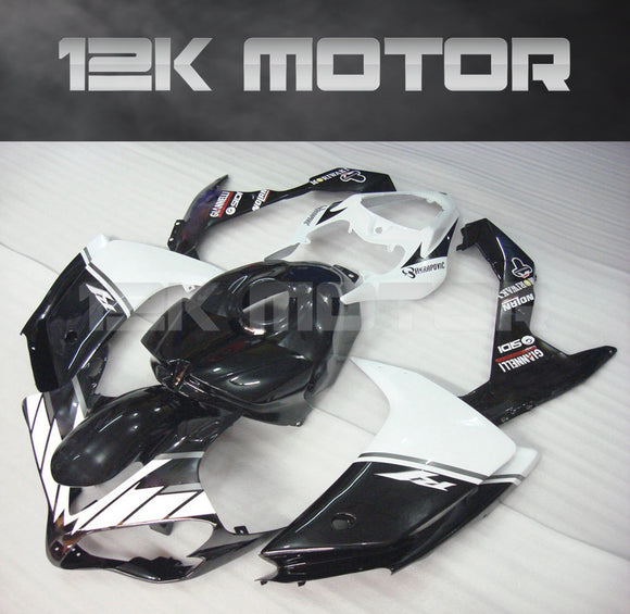 Black and White Fairing for Yamaha R1 2007 2008 Aftermarket Fairing kits