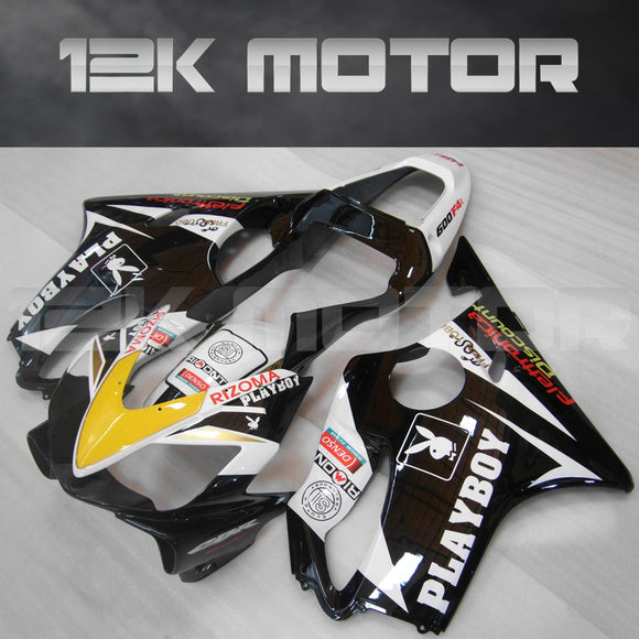 Black Yellow Fairing Fit for HONDA CBR600RR 2001-2003 Aftermarket Fairing Kit