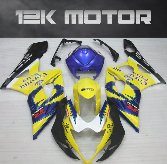 Yellow Corona Fairing Kits Fit for SUZUKI GSXR 1000 2005 2006 Aftermarket Fairing Kit